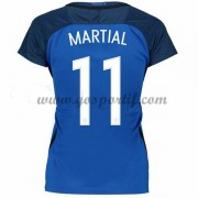 maillot de foot équipe nationale femme France 2016 Anthony Martial 11 maillot domicile..